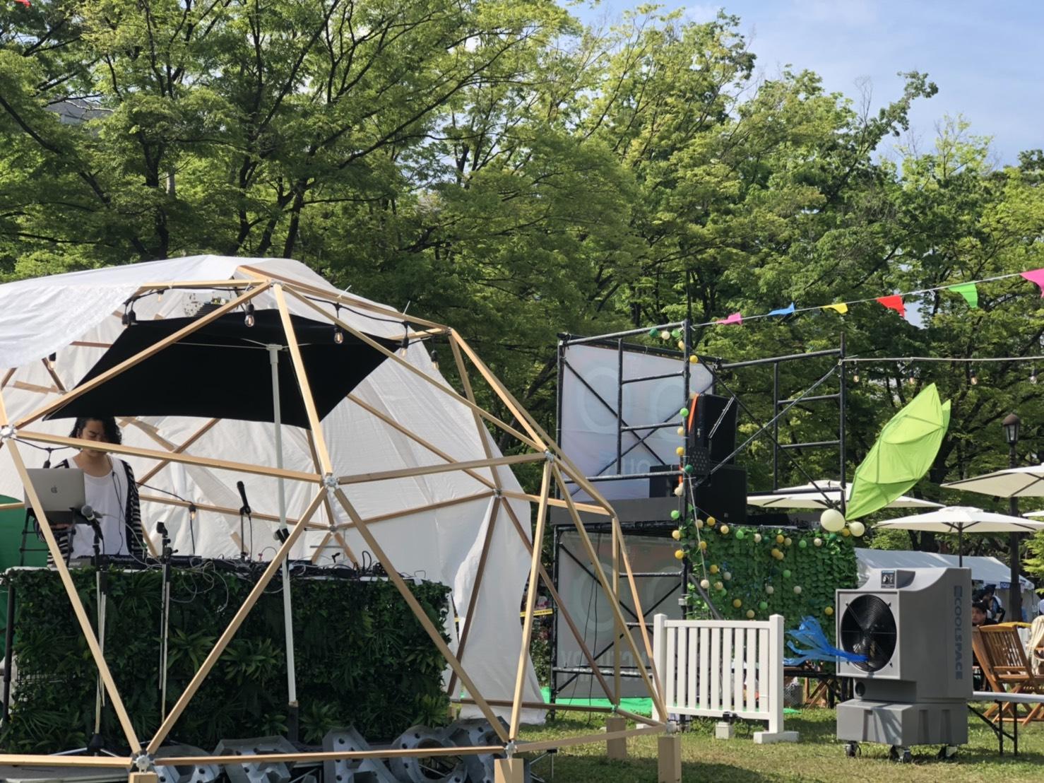 野外イベントで大型 気化式冷風機 クールスペースが活躍!