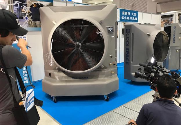 テレビ朝日 ANNニュース で 大型 気化熱冷風機 クールスペースを紹介していただきました!(第5回 猛暑対策展)
