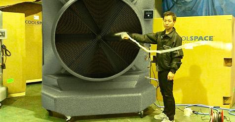 業務用大型冷風機 クールスペース 体育館 工場 倉庫 無段変速スピード