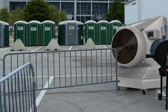 業務用大型冷風機クールスペース 避難場所