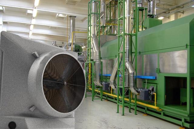 業務用大型冷風機クールスペース 工場