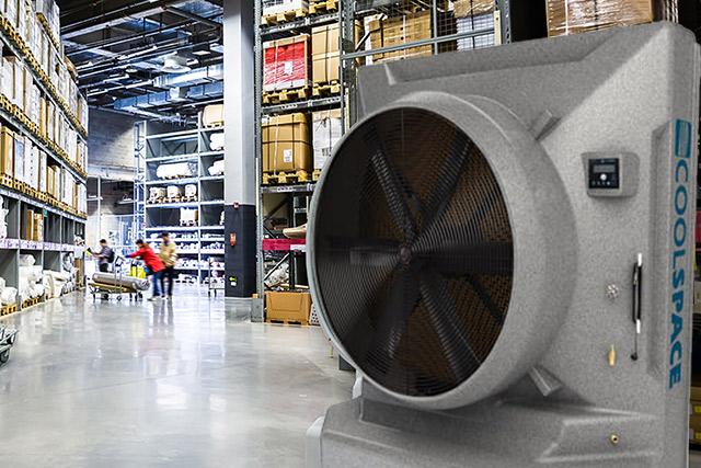 業務用大型冷風機クールスペース 倉庫