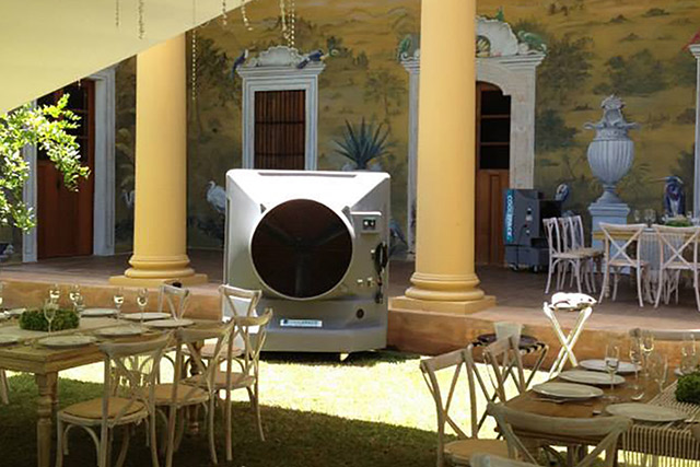 業務用大型冷風機クールスペース 中庭・テラス