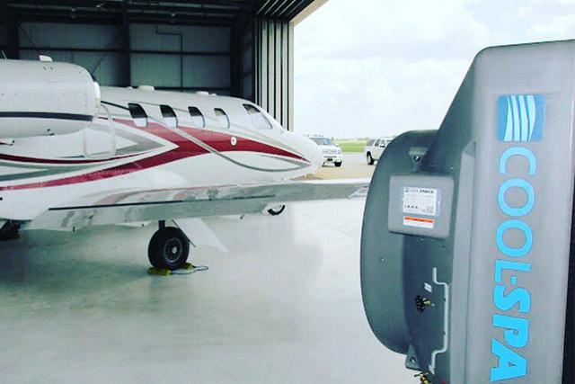 業務用大型冷風機クールスペース 格納庫、空港
